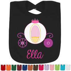 Princess Carriage Baby Bib - 14 Bib Colors (Personalized)