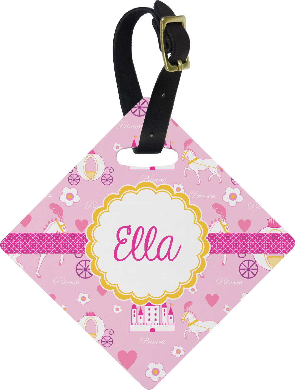 princess carriage diamond luggage tag  personalized