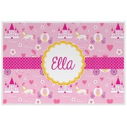 Princess Carriage Laminated Placemat w/ Name or Text