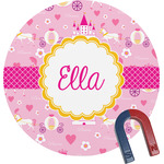 Princess Carriage Round Magnet (Personalized)