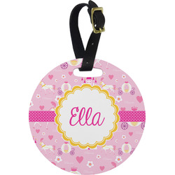 Princess Carriage Round Luggage Tag (Personalized)