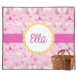 Princess Carriage Outdoor Picnic Blanket (Personalized)
