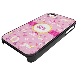 Princess Carriage Plastic 4/4S iPhone Case (Personalized)