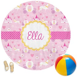 Princess Carriage Round Beach Towel (Personalized)