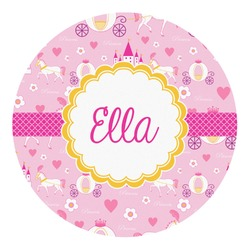 Princess Carriage Round Decal (Personalized)