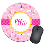 Princess Carriage Round Mouse Pad (Personalized)