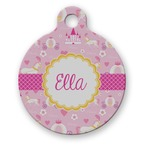 Princess Carriage Round Pet Tag (Personalized)