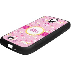 Princess Carriage Rubber Samsung Galaxy 4 Phone Case (Personalized)