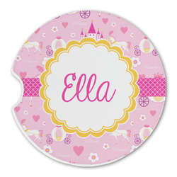 Princess Carriage Sandstone Car Coasters (Personalized)