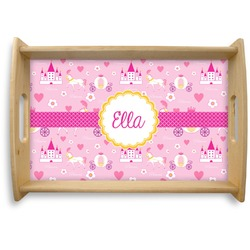 Princess Carriage Natural Wooden Tray - Small (Personalized)
