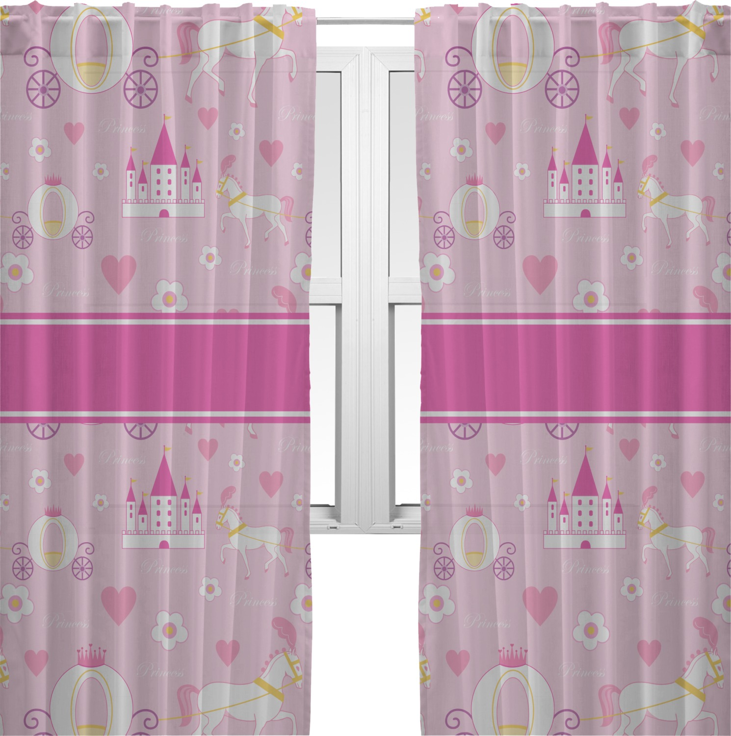 Nice Princess Carriage Sheer Curtains (Personalized)