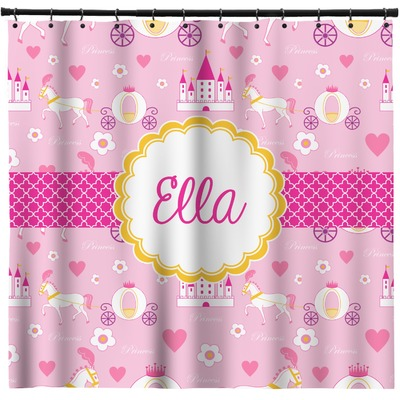 Princess Carriage Shower Curtain (Personalized)