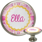 Princess Carriage Cabinet Knob (Silver) (Personalized)