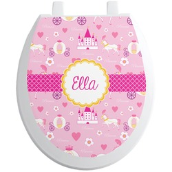 Princess Carriage Toilet Seat Decal (Personalized)
