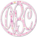 Princess Carriage Monogram Decal - Custom Sized (Personalized)