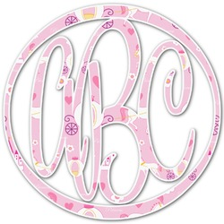 Princess Carriage Monogram Decal - Custom Sizes (Personalized)