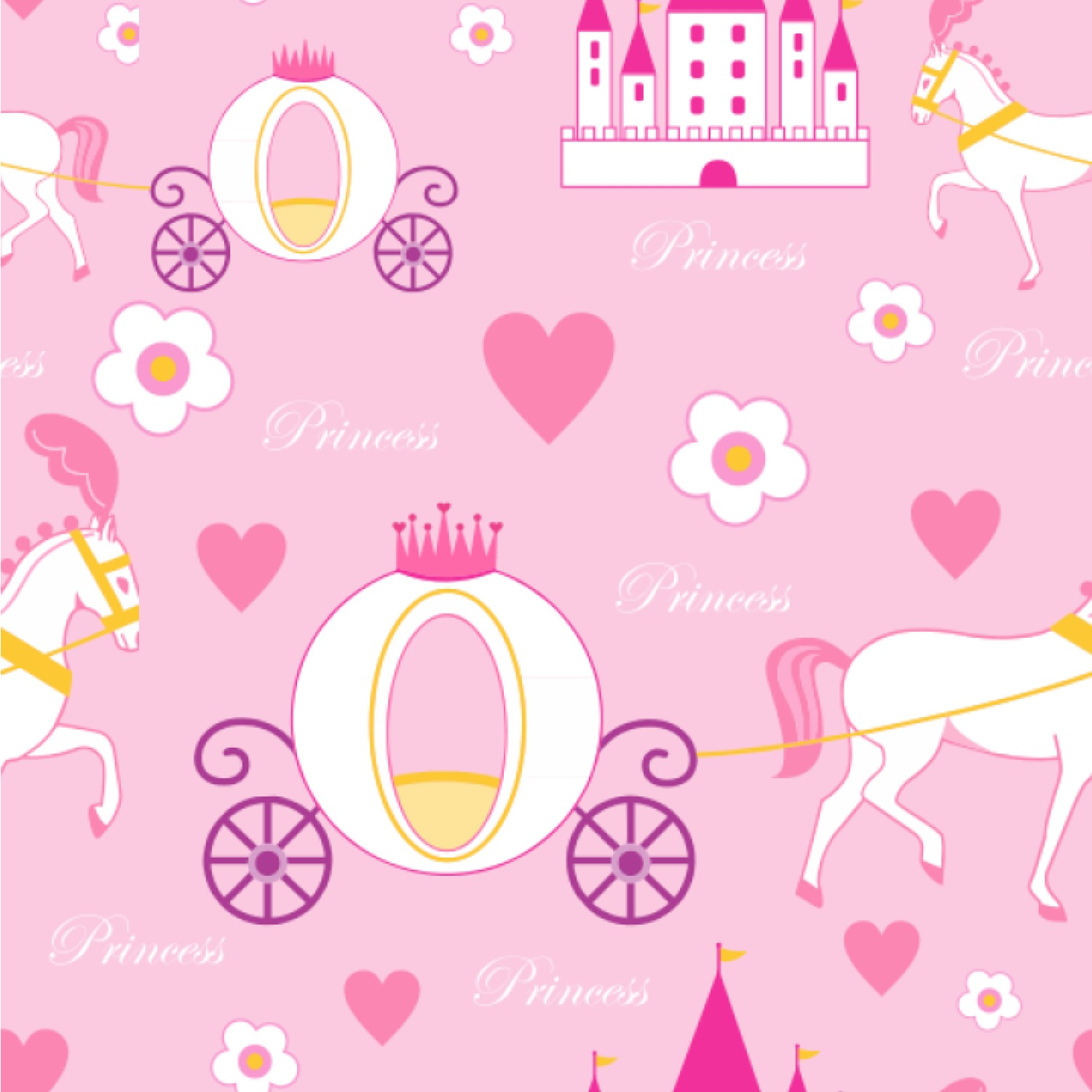 princess carriage wallpaper amp surface covering
