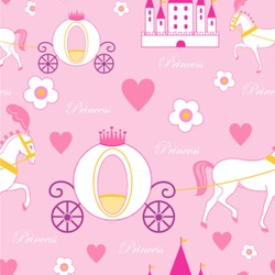 Princess Carriage Wallpaper & Surface Covering