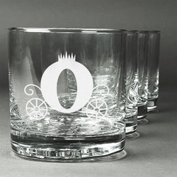 Princess Carriage Whiskey Glasses (Set of 4) (Personalized)