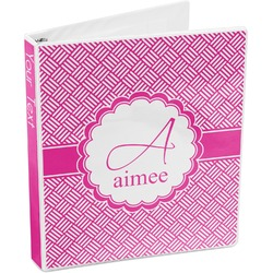Square Weave 3-Ring Binder (Personalized)
