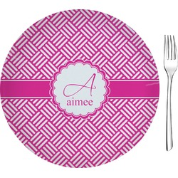 """Hashtag Glass Appetizer / Dessert Plate 8"""" (Personalized)"""