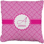 Square Weave Faux-Linen Throw Pillow (Personalized)