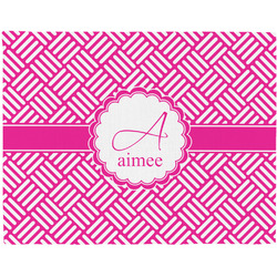 Square Weave Woven Fabric Placemat - Twill w/ Name and Initial