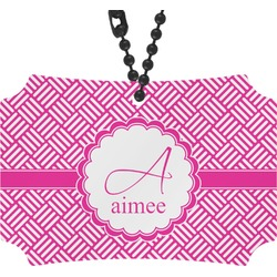 Hashtag Rear View Mirror Ornament (Personalized)
