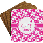 Square Weave Coaster Set w/ Stand (Personalized)