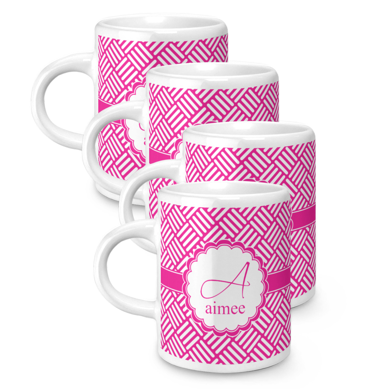 Hashtag Espresso Mugs Set Of 4 Personalized