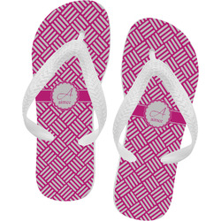 Square Weave Flip Flops (Personalized)