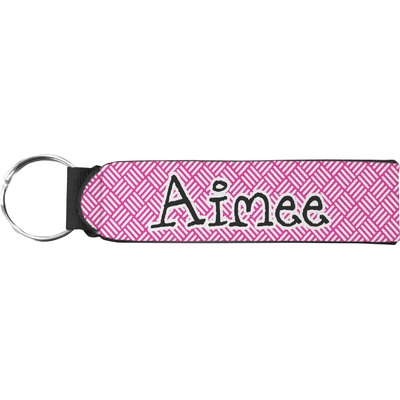 Square Weave Neoprene Keychain Fob (Personalized)