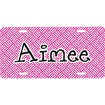 Square Weave Front License Plate (Personalized)