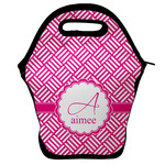 Square Weave Lunch Bag w/ Name and Initial