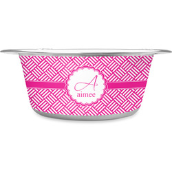 Hashtag Stainless Steel Pet Bowl (Personalized)