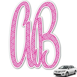 Square Weave Monogram Car Decal (Personalized)