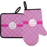 Square Weave Oven Mitt & Pot Holder (Personalized)
