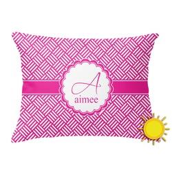 Hashtag Outdoor Throw Pillow (Rectangular) (Personalized)