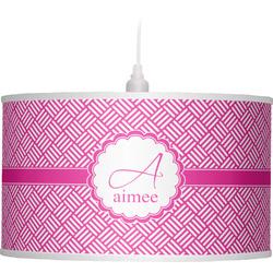 Square Weave Drum Pendant Lamp (Personalized)