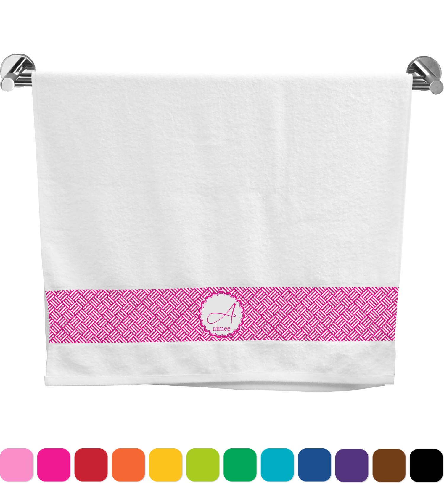 Hashtag bath towel personalized youcustomizeit for Bathroom design hashtags