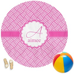 Hashtag Round Beach Towel (Personalized)