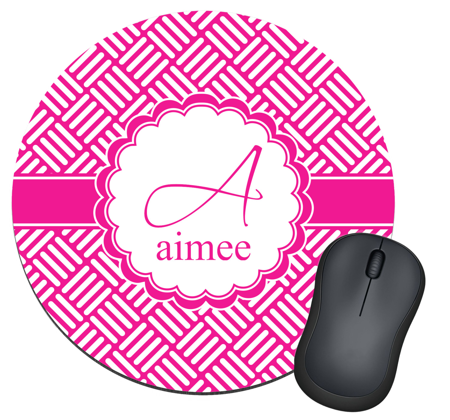 Hashtag round mouse pad personalized youcustomizeit for Office design hashtags