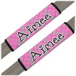 Square Weave Seat Belt Covers (Set of 2) (Personalized)
