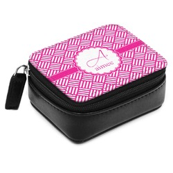 Hashtag Small Leatherette Travel Pill Case (Personalized)