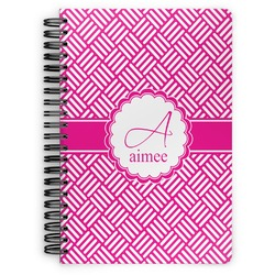 Square Weave Spiral Bound Notebook (Personalized)