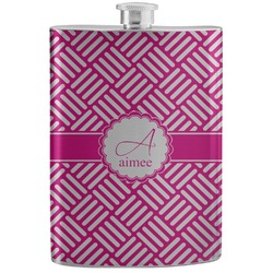 Square Weave Stainless Steel Flask (Personalized)