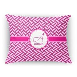 Hashtag Rectangular Throw Pillow Case (Personalized)