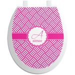 Square Weave Toilet Seat Decal (Personalized)