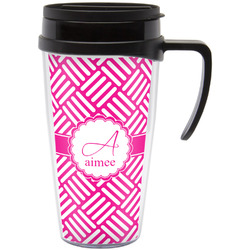 Hashtag Travel Mug with Handle (Personalized)