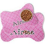 Square Weave Bone Shaped Dog Food Mat (Personalized)